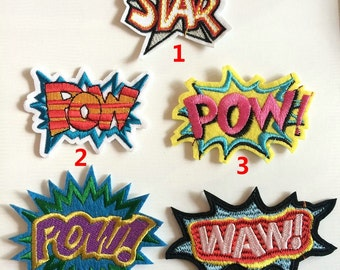 fabric star decorative letters embroidered clothes patcheswaw sew oniron on letters patchclothing applique for jacketsjeans