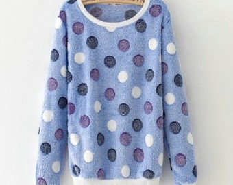 Autumn Harajuku Style Long Sleeve Pullover Tops Colorful Sweatshirt Hoodies For Women #22