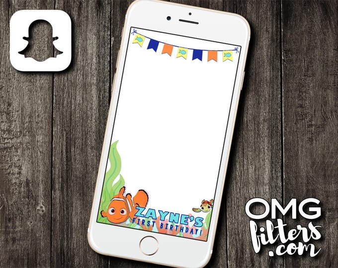 Finding Fishies Party 2 Nemo - Custom Snapchat Filter - Any Age!