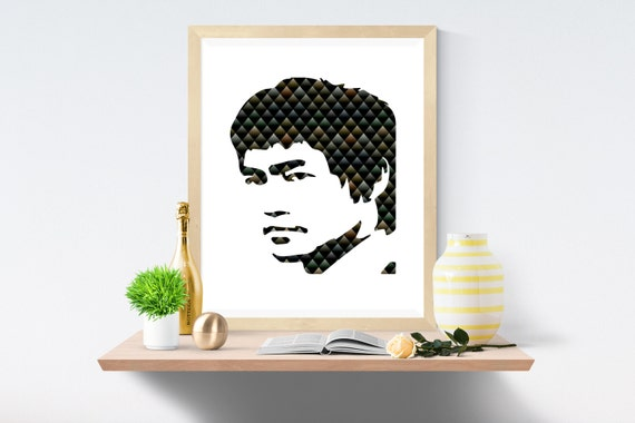 Bruce Lee, Black, Black Print, Black Prints, White Print, White Prints, Wall Art, Art Print, Printable Art, Wall Prints, Modern Art