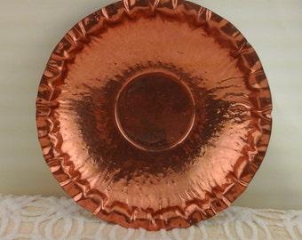 Vintage, hammered copper bowl.