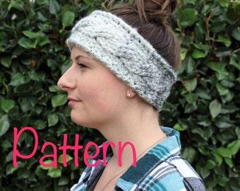 Cable Twist Headband Crochet PATTERN