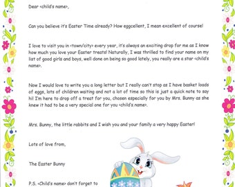 Personalised Letter from The Easter Bunny
