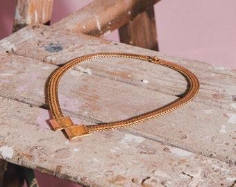 Vintage Monet Heavy Geometric Chain Link Necklace