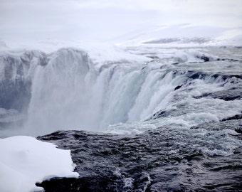 Landscape Photography Godafoss Iceland Waterfall Print