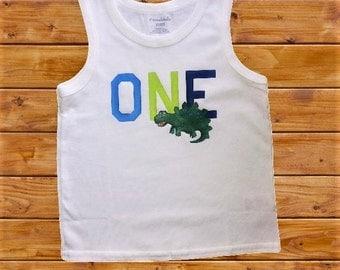 1st Birthday Dino Shirt