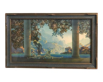 Maxfield Parrish Daybreak Print in Original Frame