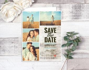 Customizable Calendar Save the Date Magnet (Printed), Save the Date photo magnet, Save the date calendar, Custom Save the Date Magnet