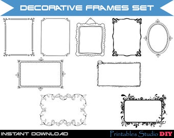 60% OFF SALE Decorative frames, Clipart Frames, Clip Art Frames, Frame Clipart, Label Clipart, Clipart Labels, Clip Art, Clipart