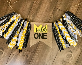 Wild ONE. Wild things high chair banner