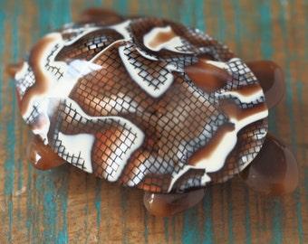 LEA Stone Turtle brooch.