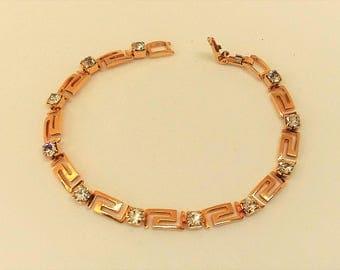 Avon Goldtone and Diamante Bracelet. Gift for her