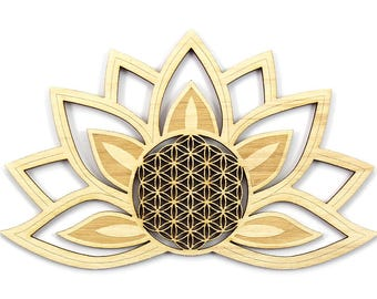 """Decoration """"Lotus"""" with flower of life"""