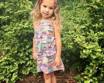 Summer romper for toddler girls - girls romper for summer - girls romper with pockets - girls clothes for summer - girls outfit for summer