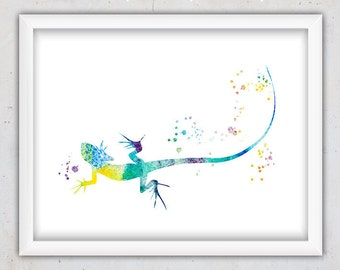 Zoo Animal Print, Digital Download Animal, Lizard Poster, Modern Kids Print, Instant Printable Kids Art Print, Watercolor Wall Art Nursery