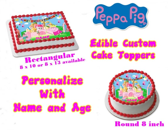 Peppa Pig Inspired Edible Images Cake topper