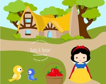 Snow White Digital Clipart Clip Art