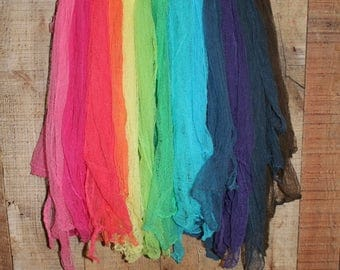 Hand Dyed Cheese Cloths-Vibrant Colors Set of 13