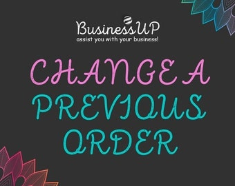 Change A Previous Order - changing personal information on your previous order(s)