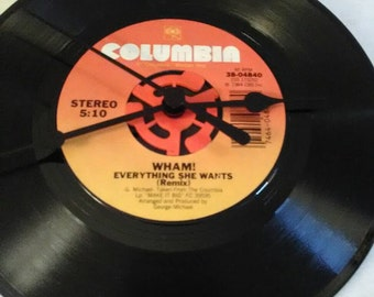 Wham 45 Record Clock - Everything She Wants