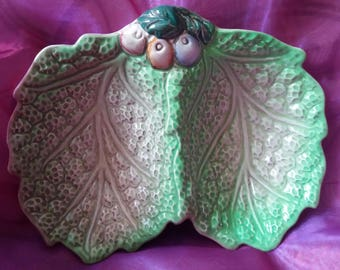 Staffordshire Shorter and Son leaf dish, vintage, retro