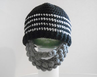 Crocheted Hat with Beard
