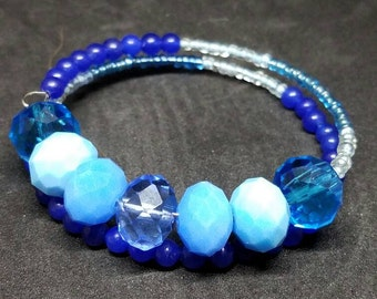 Blue Layered Bracelet