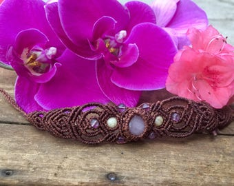 Rose Flows _ Macrame Bracelet