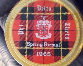 Phi Delta Theta Spring Formal 1965 Plaid Cooler