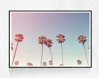 Palm Tree Print, Palm Tree Wall Art, Tropical Wall Art, Palm Leaf Print, Beach Decor, Printable Art