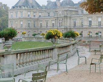 Jardin du Luxembourg // Paris Photography, Travel Photography, Paris Garden, Gray Paris, Overcast Paris, Paris Travel Prints, Paris Art