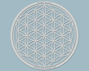 """Template """"0510 flower of life"""" (silhouette) for textiles, walls, mixed media, scrapbooking, canvas, decorations, window..."""
