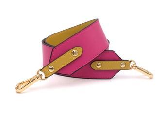 Shoulder belt bag shoulder strap for women's bags in pink yellow