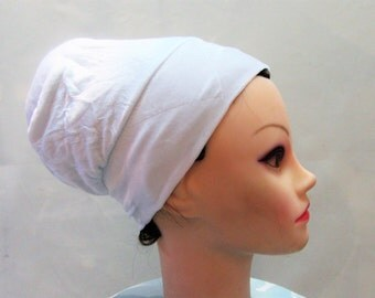 NEW BOBO, White Adjustable Volumizer, Anti Slip, Jewish Head Covering, under Head Scarf, Hair Snood, Hair Cover, Snood Great under Tichel