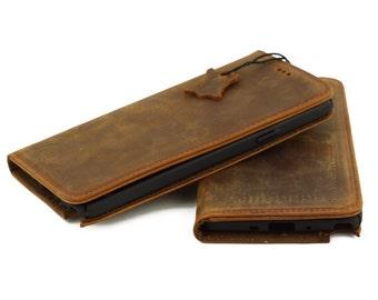 Samsung Galaxy Note 4 Wallet Case - Handmade Genuine Leather