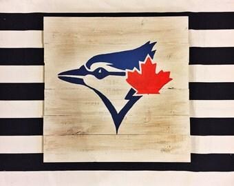 Toronto Blue Jays wood sign| baseball art | blue jays sign| sports fan| baseball decor | wall art