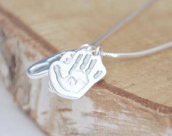 Handprint & Footprint Charm Necklace
