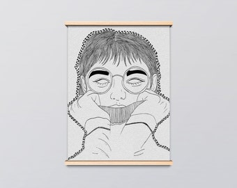 No Eyes Art Print