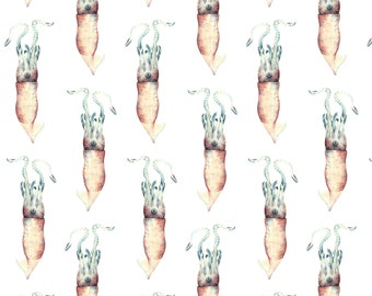 Sea Squid repeat print available on a variery of fabrics