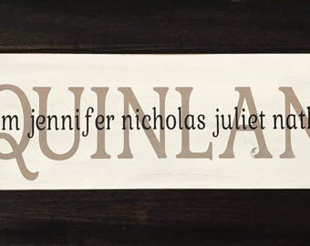 Wooden Family Name Sign - Style 3