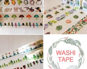 WASHI TAPE - Various patterns: garden, nature, flowers