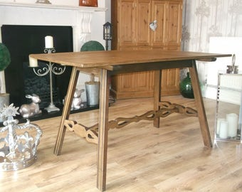 Vintage Oak Refectory Reclaimed Church Table
