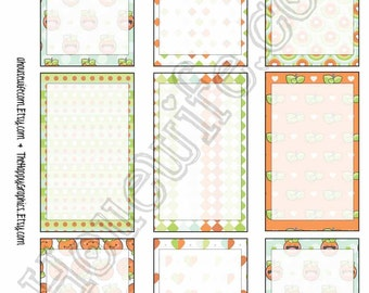 Happy Planner stickers [235] , Full box, A5 PDF, Instant download