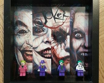 Evolution Of The Joker Lego Display Frame