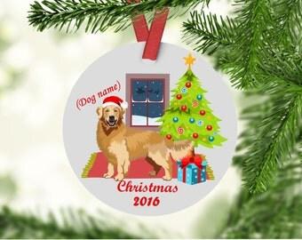 Golden Retriever Christmas Ornament - Golden Retriever - Golden Retriever First Christmas Ornament
