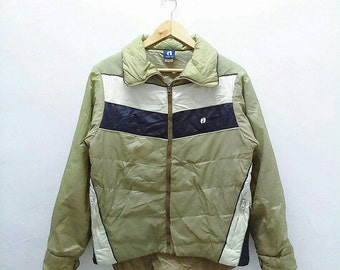Hot Sale!!! Rare Vintage HANG TEN PUFF Multicolour Jacket Hip Hop Skate Swag Medium Size