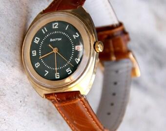 Mens Wrist Watches Mens watch Mechanical watch Russian watch Vintage Watch Soviet watch Military Watch Vostoc watch Working Watch USSR Watch