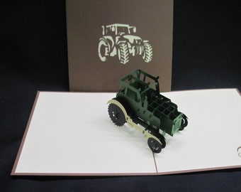 3-d Tractor pop-up card