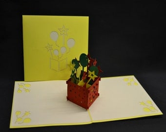 3-D Birthday Pop-Up Card