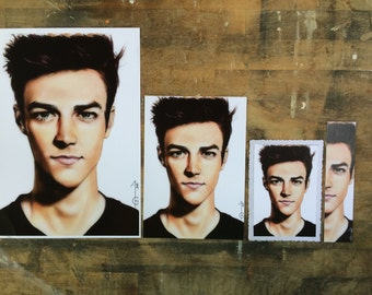 Grant Gustin, Barry Allen (The Flash) Artwork Fanart (BOOKMARK, marque page, Poster, PostalCard)